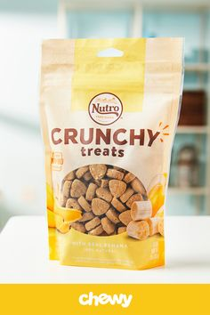Your dog will go bananas over Nutro Crunchy with Real Banana Dog Treats. Made for good, clean and healthy snack, the recipe has high-quality protein and is packed with wholesome goodness and flavor—with non-GMO ingredients like oatmeal, banana puree and real, dried bananas. Each resealable bag is packed with crunchy bites perfect for when your dog has the munchies, or for training, too. Plus, from the chicken to the bananas, everything is sourced from trusted farmers and made here in the…