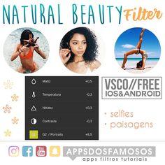"""@appsdosfamosos no Instagram: """"Esse filtro fica lindo, tanto em fotos internas quanto externas  (se não me engano esse filtro é…"""""""