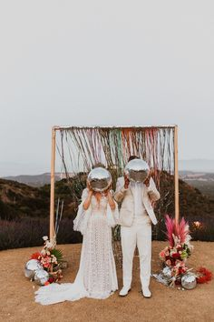 wedding inspo This styled shoot is simply oozing with all the groovy wedding vibes! California wedding vendors have created the ultimate disco wedding and our hearts were. for this gorgeous wedding inspo! Wedding Bells, Boho Wedding, Dream Wedding, Retro Wedding Decor, Retro Weddings, Eclectic Wedding, Barn Weddings, Destination Weddings, Wedding Colors