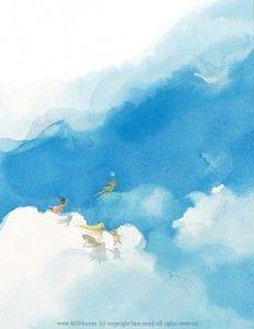 Peter Pan by kim minji illustrations Children's Book Illustration, Watercolor Illustration, Watercolor Art, Book Illustrations, Kim Min Ji, Doodle Inspiration, Peter Pan Disney, Guache, Humor Grafico