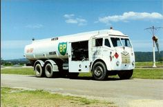 Air BP Foden aviation fuel truck, this one still in service at Merimbula Airport, New South Wales, in February 1991