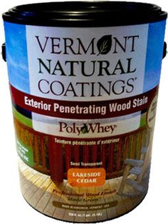 Vermont Natural Coatings PolyWhey, Exterior, Penetrating Stain - Non-Toxic, Durable Penetrating Stain - Green Building Supply