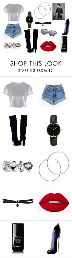 """""""Sin título #2000"""" by sweetblack-21 ❤ liked on Polyvore featuring Related, Levi's, ROSEFIELD, Melissa Odabash, Fallon, Chanel, Carolina Herrera and J.ESTINA"""