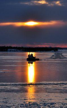 Sunset in Suomenlinna, Helsinki, Finland Copyright: Lyudmila Vshivkova