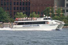 SEASTREAK OCEAN STATE in East River, New York, USA. June, 2010 by Tom Turner - SeaTeamImages / AirTeamImages, via Flickr