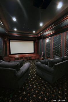 An awesome man cave for watching sports or movies with the guys. See all factors, as well as costs, that go into home theater installation.