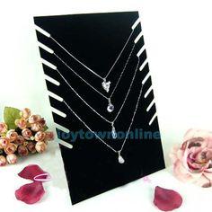 Black Velvet Necklaces Holder Show Case Display Stand Jewelry Display Base #jt1