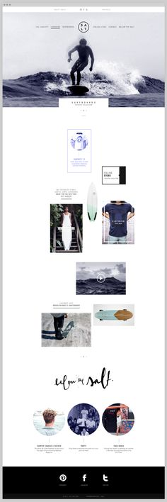 surf style ... the look and feel || Salt Surf by Rafael Nadai, via Behance
