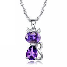 www.meowaish.com Purple Cat, White Gold, Socks, Gemstones, Accessories, Jewelry, Jewels, Schmuck, Hosiery