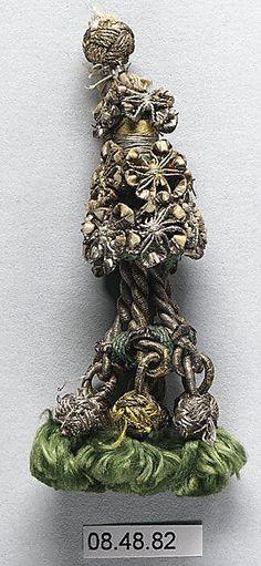 18th c, French, silk & metal thread