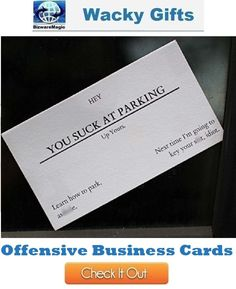 Wacky gifts corporate business gifts pinterest offensive business cards featured on bizwaremagics corporate business gifts click to find more wacky gifts wackygifts gifts offensivebusinesscards colourmoves