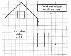 A couple of ginger bread house patterns including dormer window and gingerbread house victorian house blueprint malvernweather Choice Image