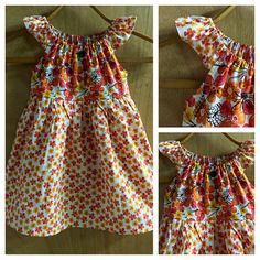 Flowered Cotton Peasant Style Sundress size 4t