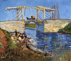 "Vincent van Gogh ""The Langlois Bridge at Arles"" (DETAIL)/ March 1888, Arles / Oil on canvas, 54 x 65 cm"