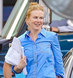 Nicole Kidman — who is three years shy of 50 — stepped out sans a stitch of makeup with her skin all aglow. The Australian actress was on the set of her new film, The Secret in Their Eyes, on Tuesday, Feb. 17, in Los Angeles, when the magic was observed.