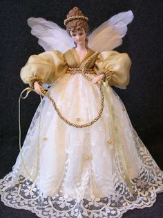 Tree Top Angel Vintage Porcelain Tree Topper by DollmakerNic