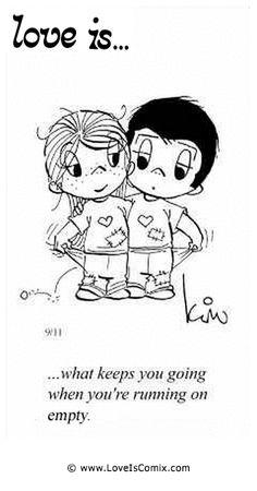 El amor es ... lo que le mantiene en marcha  cuando se está ejecutando en vacío. Comic de mar, 01 de noviembre 2011 - 41
