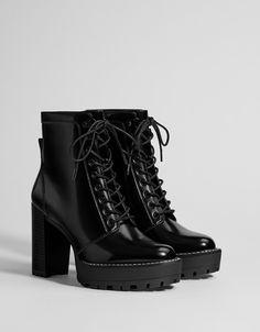 df237750f3ae12 Bottines talon plateforme Bottes De Combat, Chaussures Compensées,  Chaussures, Mode