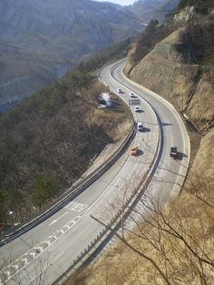 Misiryeong Penetrating Road, Gangwon Province, Korea - Emergency Escape Ramp | 미시령관통도로 긴급제동시설