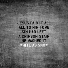 Jesus Paid it All hymn