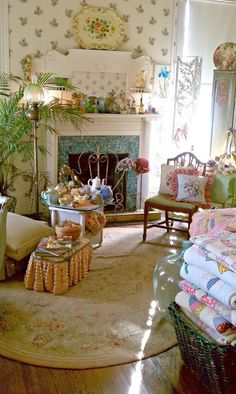 Room Home Vintage Country Decorate Cozy Living Room Interior Design