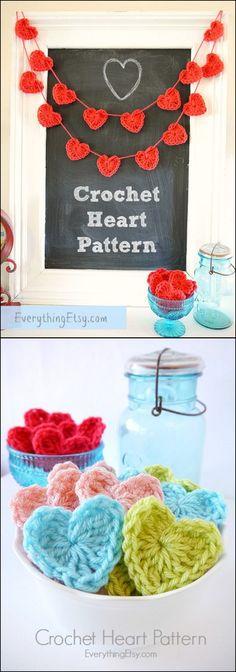 20 Amazing Free Crochet Patterns That Any Beginner Can Make---Free Crochet Heart Pattern