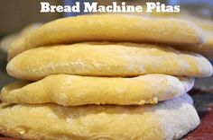 Loving making dough with my bread machine right now... This is the next item on my list. It would be amazing to not have to buy pita bread from the store!