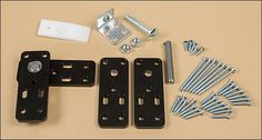 Flush-Mount Murphy Door Hardware Kit - Hardware