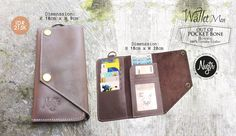 """New Article: #nvgtrWallet For Men """"Out Of Pocket Bone - Brown"""" Leather Genuine 