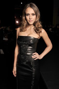 Front Row at Atelier Versace F12 - Jessica Alba