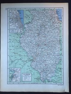 Washington or wisconsin large map 1943 columbia standard 1949 encyclopedia britannica vintage map pages by greenbasics gumiabroncs Images