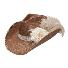Charlie 1 Horse Ellie Mae Shapeable Straw Cowgirl Hat