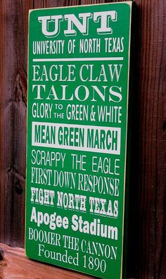 UNT University of North Texas Subway Art Sign by CalowayCreations, $49.95