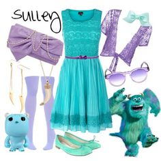Sulley-I wouldn't wear a lot of the accessories but I love that dress!