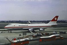 Swissair at Heathrow, 1974 Heathrow Airport, Aviation, Aircraft, Plane, Airplanes, Airplane