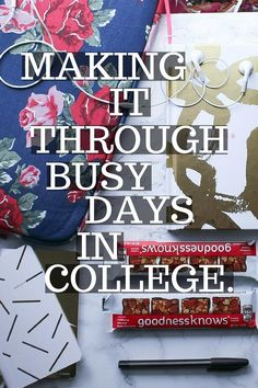 College is stressful, and throwing super busy days on top of that can seem super overwhelming. Here are some college student tips for managing your time on those busy days.