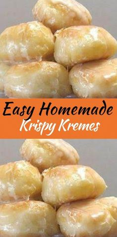 Easy Homemade Krispy Kremes Ingredients 3 tablespoons milk 3 tablespoons boiling water 1 teaspoon dry active yeast 8 ounces all-purpose flour ( a little under 2 cups, I recommend you measure and weigh) 1 ounces sugar (about 3 tablespoons) 1 egg 1 Donut Recipes, Brunch Recipes, Sweet Recipes, Baking Recipes, Fun Recipes, Keto Recipes, Healthy Recipes, Delicious Donuts, Delicious Desserts