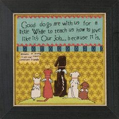 Mill Hill Curly Girl Design Good Dogs CG30-5104 by DebiCreations