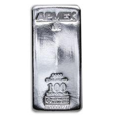 100 oz Silver Bar - APMEX/RMC (.9999 Fine, Co-Branded)
