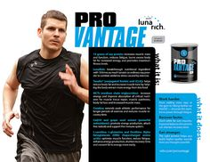 ProVantage - U.S patented nutritional sports enhancement product. Work outs become more beneficial and muscle recovery is faster!