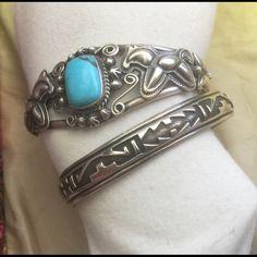 Tommy Singer Jewelry - Navajo Tommy Singer Sterling Overlay Cuff Bracelet
