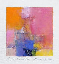 "Feb. 22, 2018 9 cm x 9 cm (app. 4"" x 4"") oil on canvas © 2018 Hiroshi Matsumoto www.hiroshimatsumoto.com"