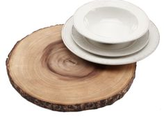 Acacia Wood Chargers - great for an outdoor party