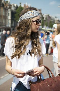Head scarves at Amsterdam Fashion Week 2013 #Fashiolista #Inspiration