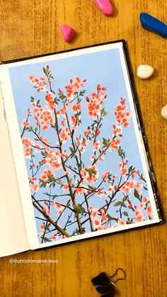 Simple Canvas Paintings, Small Canvas Art, Diy Canvas Art, Flower Canvas Art, Canvas Art Projects, Easy Paintings, Canvas Painting Tutorials, Diy Painting, Creative Painting Ideas