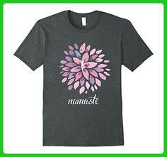Mens yoga big lotus flower buddha hindu shanti gym T-Shirt 3XL Dark Heather - Workout shirts (*Amazon Partner-Link)