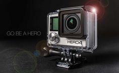 Studio Product photography shoot of the GoPro Hero4 in my Houston studio.