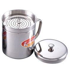 1.5 Quart Oil Storage Container Stainless Steel Don't Waste Cooking Oil Or Fat  #CookNHome