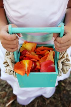 cute flower girl basket