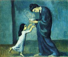 """""""La soupe"""" Peinture de l'artiste espagnol Pablo Picasso -1902-"""
